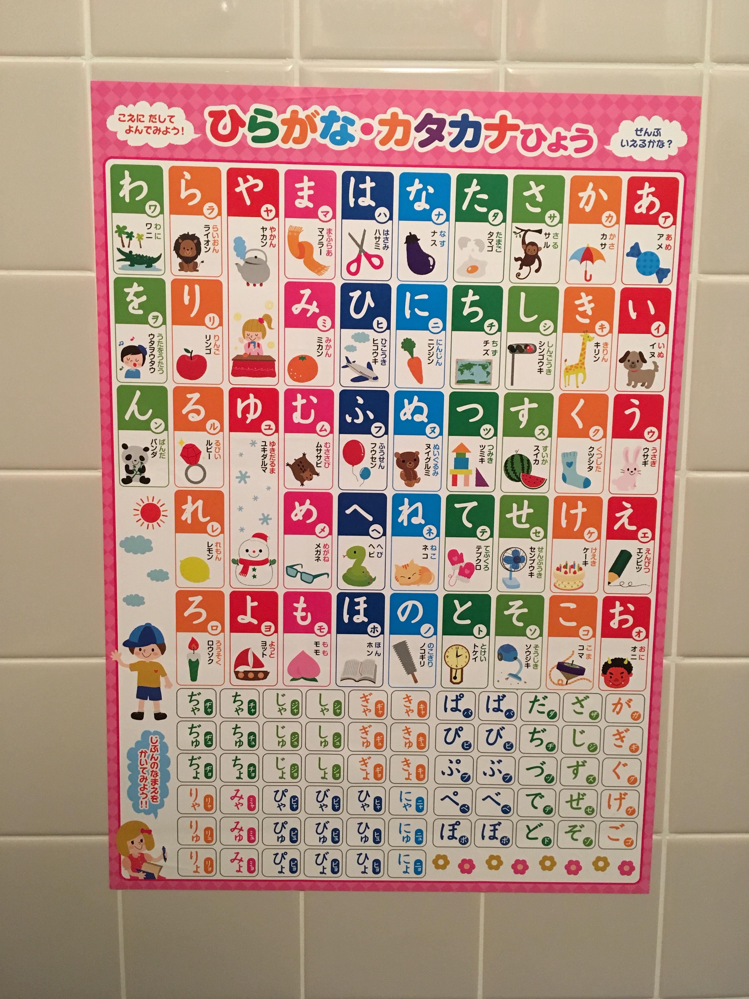 百均のお風呂用ひらがなポスターで2歳9ヶ月の長男が自分の名前を読めるようになった!